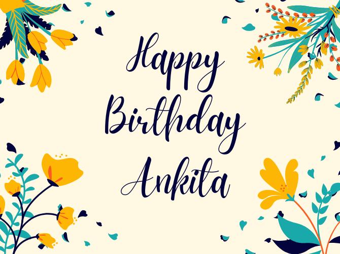 Happy Birthday Ankita Images HD