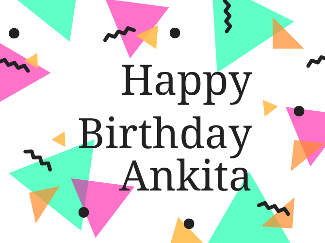Ankita Birthday Image