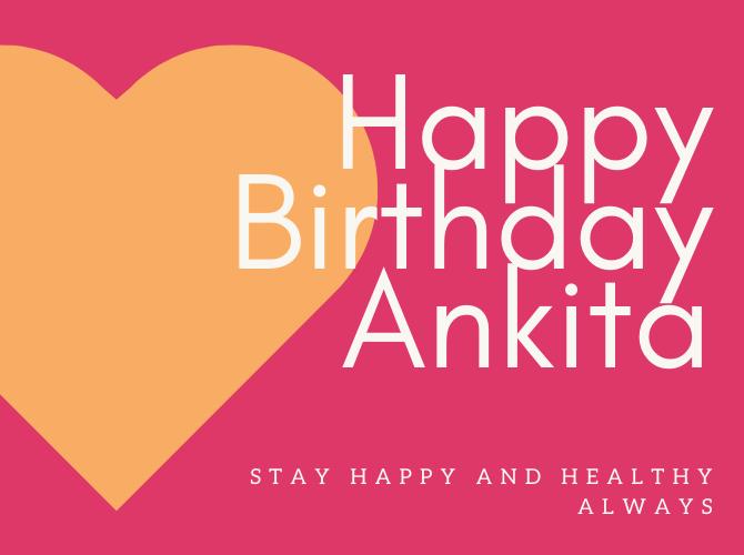 Happy Birthday Ankita Photos