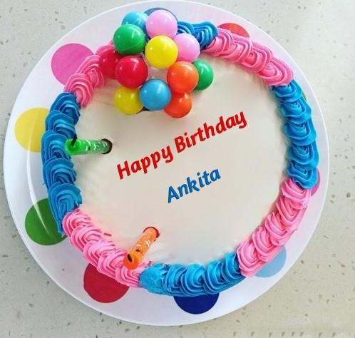 Colorful Ankita Birthday Cake Image