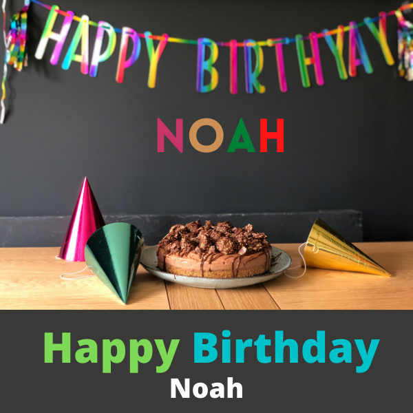 Happy Birthday Noah Photo with cake name