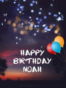Happy Birthday Noah Cake Image